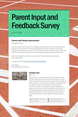 Parent Input and Feedback Survey