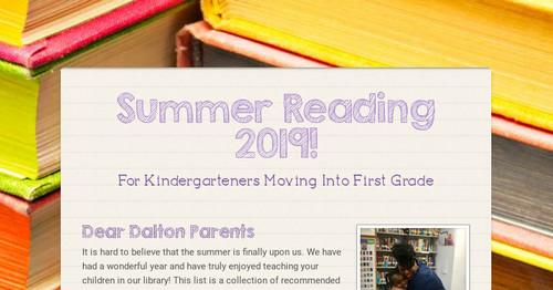 Summer Reading 2019!