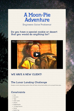 A Moon-Pie Adventure