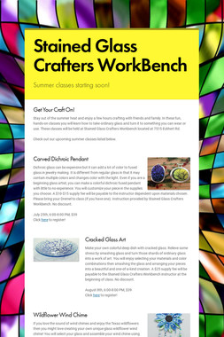 Stained Glass Crafters WorkBench