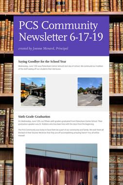 PCS Community Newsletter 6-17-19