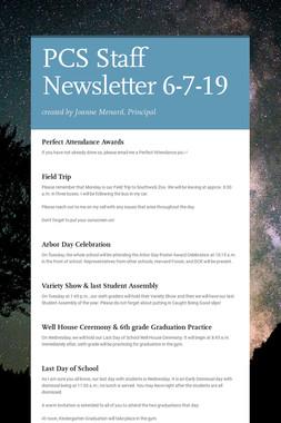 PCS Staff Newsletter 6-7-19
