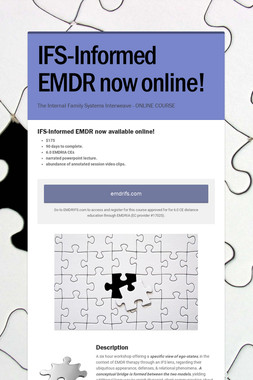 IFS-Informed EMDR now online!