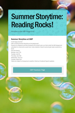 Summer Storytime: Reading Rocks!