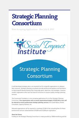 Strategic Planning Consortium