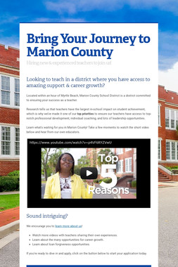 Bring Your Journey to Marion County