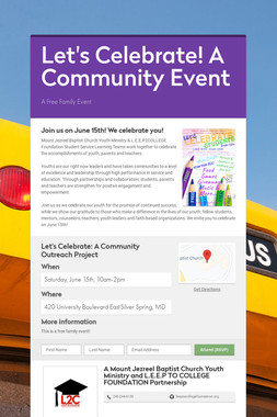 Let's Celebrate! A Community Event