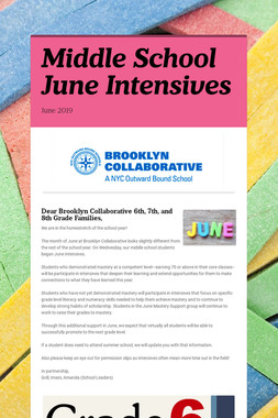 Middle School June Intensives