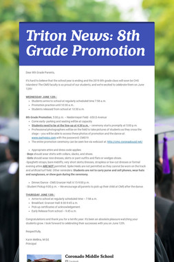 Triton News: 8th Grade Promotion