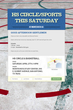 HS Circle/Sports this Saturday