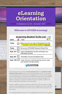 eLearning Orientation