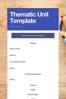 Thematic Unit Template
