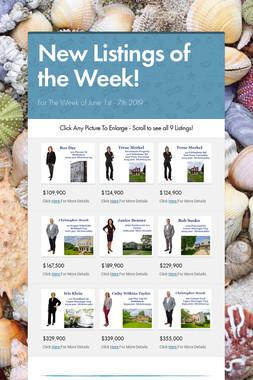 New Listings of the Week!
