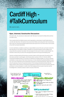 Cardiff High - #TalkCurriculum