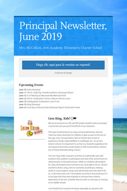 Principal Newsletter, June 2019