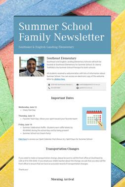 Summer School Family Newsletter