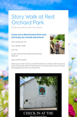 Story Walk at Red Orchard Park