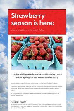 Strawberry season is here: