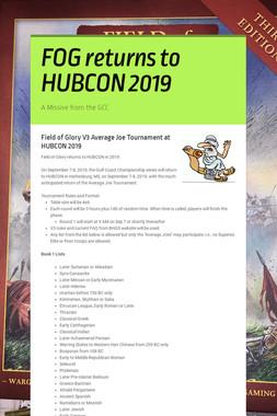 FOG returns to HUBCON 2019
