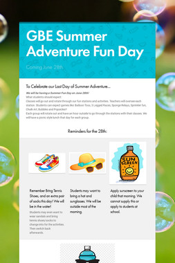 GBE Summer Adventure Fun Day