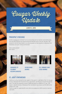 Cougar Weekly Update