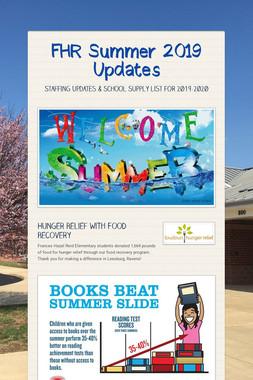 FHR Summer 2019 Updates