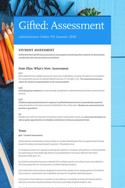 Gifted: Assessment