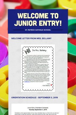 Welcome to Junior Entry!