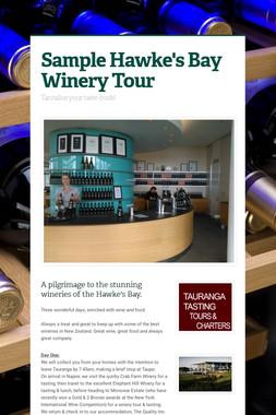 Sample Hawke's Bay Winery Tour