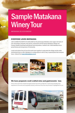 Sample Matakana Winery Tour