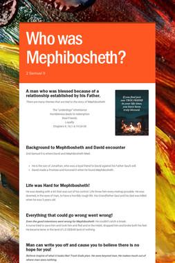Who was Mephibosheth?