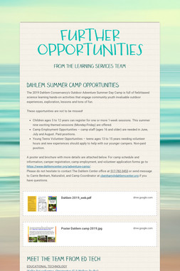 FURTHER OPPORTUNITIES