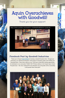 Aquin Overachieves with Goodwill!