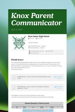 Knox Parent Communicator