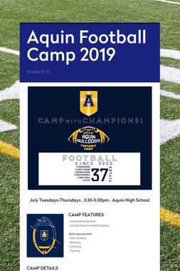 Aquin Football Camp 2019