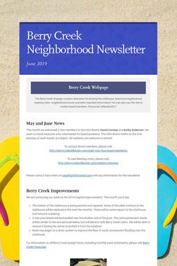 Berry Creek Neighborhood Newsletter