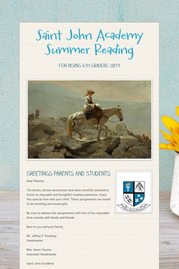 Saint John Academy Summer Reading