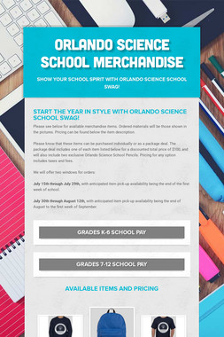 Orlando Science School Merchandise