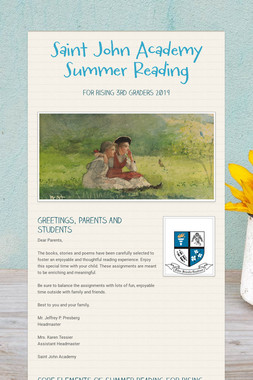 Saint John Academy Summer Reading
