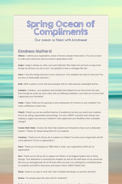 Spring Ocean of Compliments
