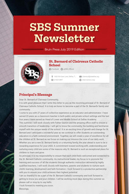 SBS Summer Newsletter