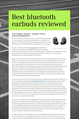 Best bluetooth earbuds reviewed