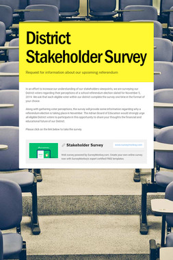 District Stakeholder Survey