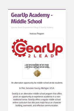 GearUp Academy - Middle School