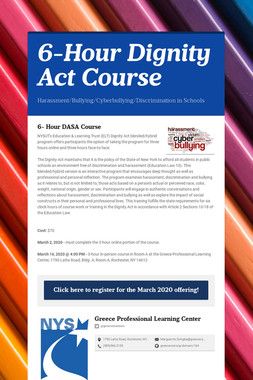 6-Hour Dignity Act Course