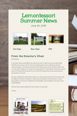 Lemontessori Summer News