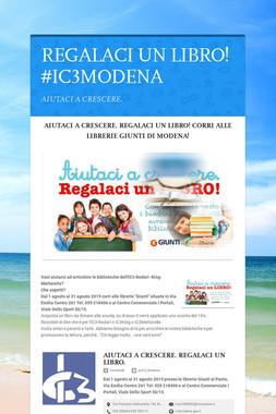 REGALACI UN LIBRO! #IC3MODENA