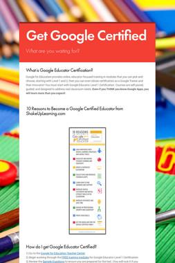 Get Google Certified