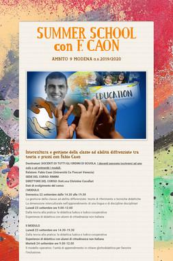SUMMER SCHOOL con F. CAON