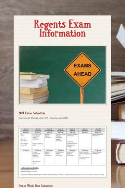 Regents Exam Information